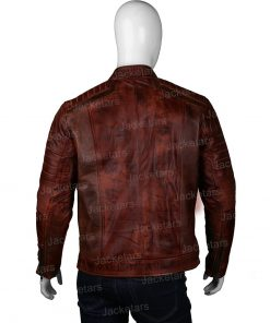 Mens Brown Biker Jacket