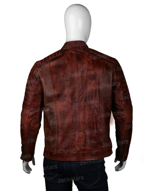 Mens Brown Biker Jacket