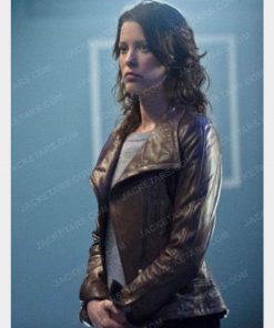 Arrow Marie Anderson Lyla Michaels Brown Leather Jacket