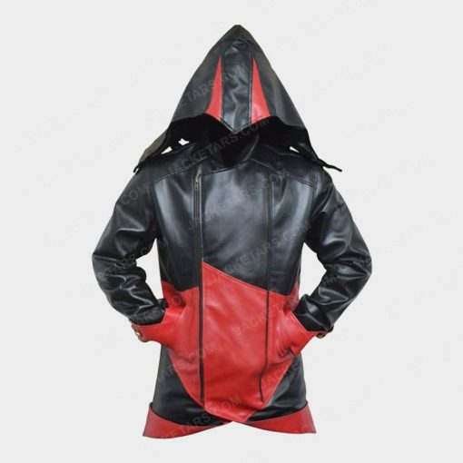 Assassins Creed Hoodie Arno Leather Jacket