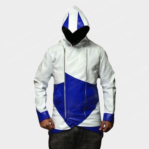Assassins Creed Hoodie Leather Jacket