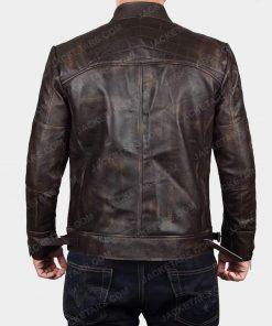 Claude Biker Brown Leather Jacket