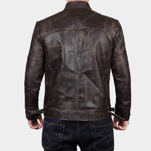 Claude Biker Brown Leather Jacket