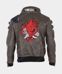 Cyberpunk 2077 Samurai Green Leather Jacket