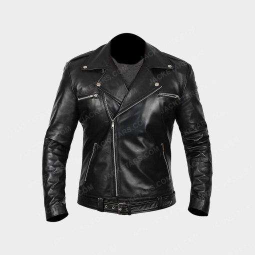 Darins Black Biker Leather Jacket