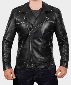 Darins Black Motorcycle Jacket
