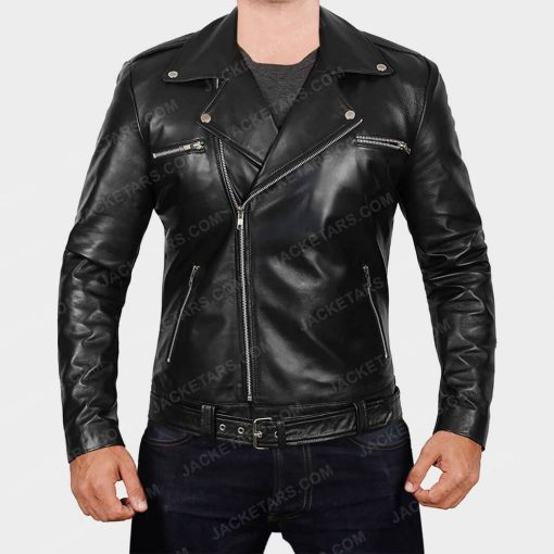 Darins Black Motorcycle Jacket