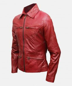 Emma Swan Red Leather Jackets
