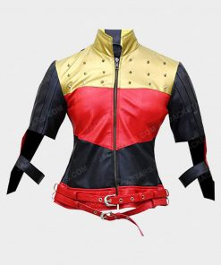 God Among Us Harley Quinn Leather Jacket