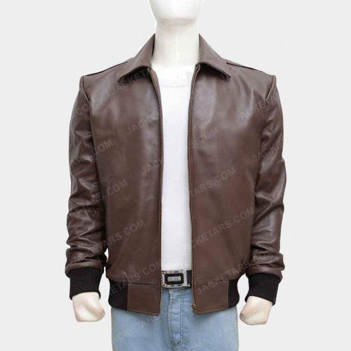 Happy Days Fonzie Herbert Brown Leather Jacket