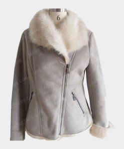 Ladies Bomber Fancy Fur Jackets