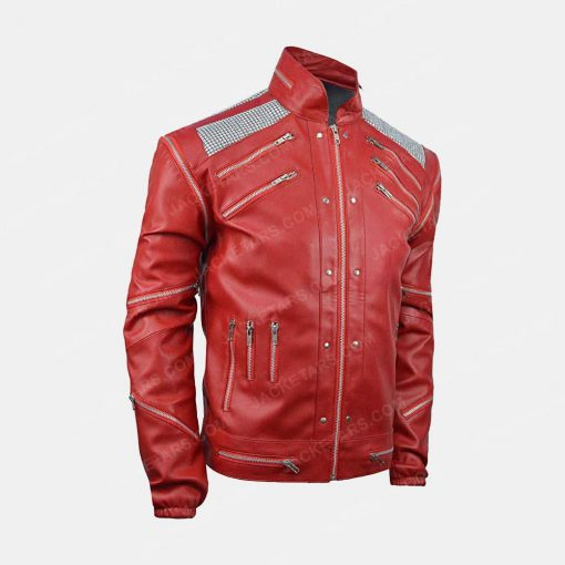 MJ Beat It Red Leather Jacket