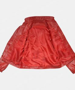 Men Beat It Red Leather Jacket