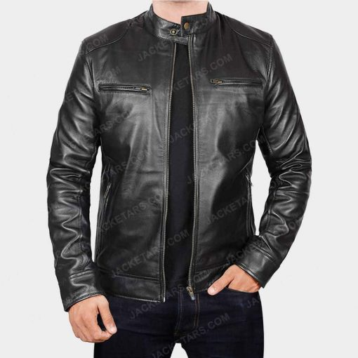 Men Biker Leather Jacket