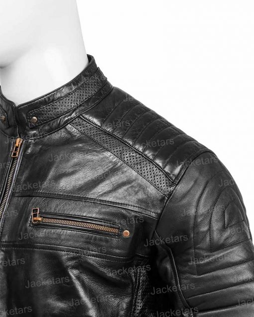 Men Black Johnson Jacket