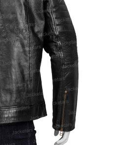 Men Black Johnson Leather Jacket