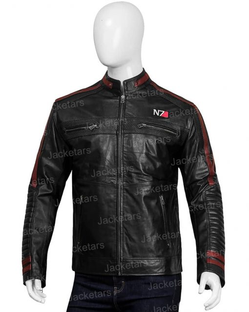 Men N7 Mass Effect 3 Biker Jacket