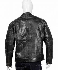 Mens Johnson Black Leather Jacket