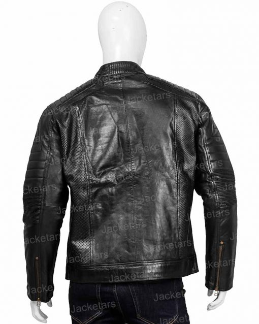 Mens Johnson Black Leather Jacket