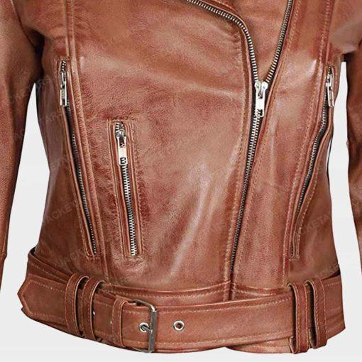 Women Brown Decrum Jacket