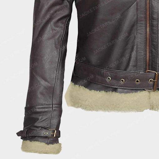 Brown Womens Asymmetrical Leather Jackets