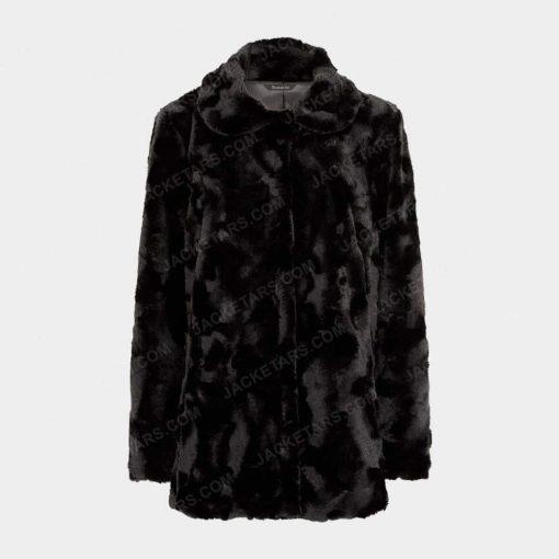 Womens Black Fur Leather Jacket
