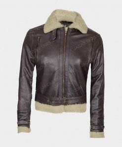 Womens Blingsoul Asymmetrical Leather Jacket