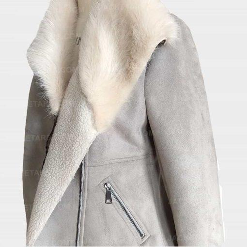 Womens Bomber Fancy Fur Jacket