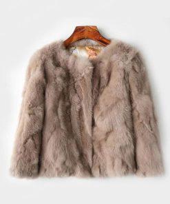 Womens Brown Fur Jacket