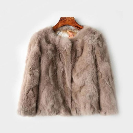 Womens Brown Fur Jacket