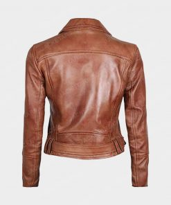 Womens Decrum Brown Leather Jacket
