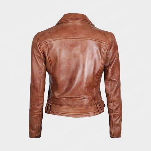 Womens Decrum Brown Leather Jacket