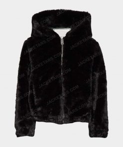 Womens Malia Black Fur Jacket