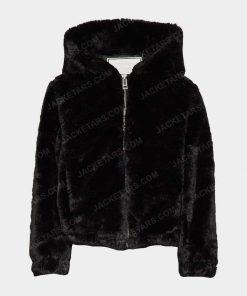 Womens Malia Black Fur Jacket