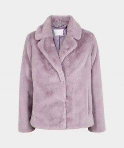 Womens Purple Fur Jacket