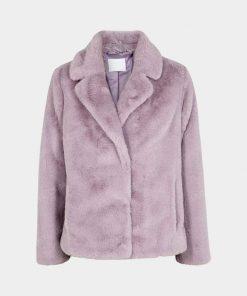Womens Purple Fur Jacket