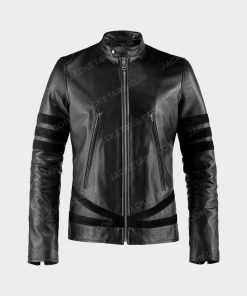 X MEN Wolverine Black Leather Jacket