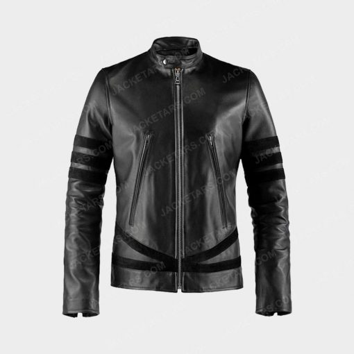 X MEN Wolverine Black Leather Jacket