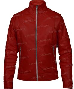 Red Womens Leather Jacket