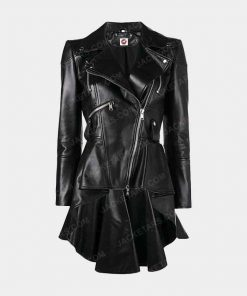 Womens Takitop Black Leather Jacket