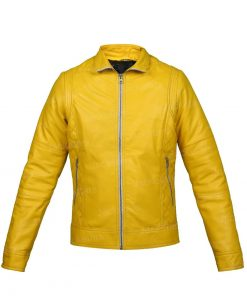 Yellow Womens Leather Jacket