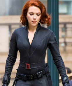 Avengers Age Of Ultron Black Widow Black Jacket