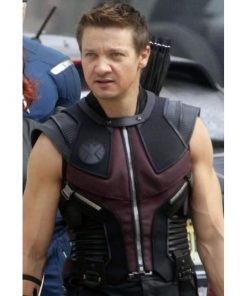 Avengers Age Of Ultron Hawkeye Leather Vest