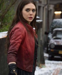 Scarlet Witch Avengers: Age Of Ultron Red Jacket