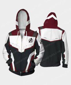 Avengers Endgame Quantum Realm White Hoodie Cosplay Costume