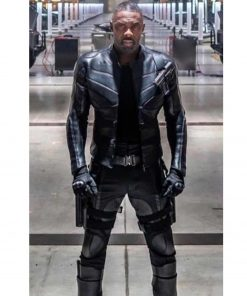 Brixton Fast and Furious Hobbs Shaw Idris Elba Black Leather Jacket