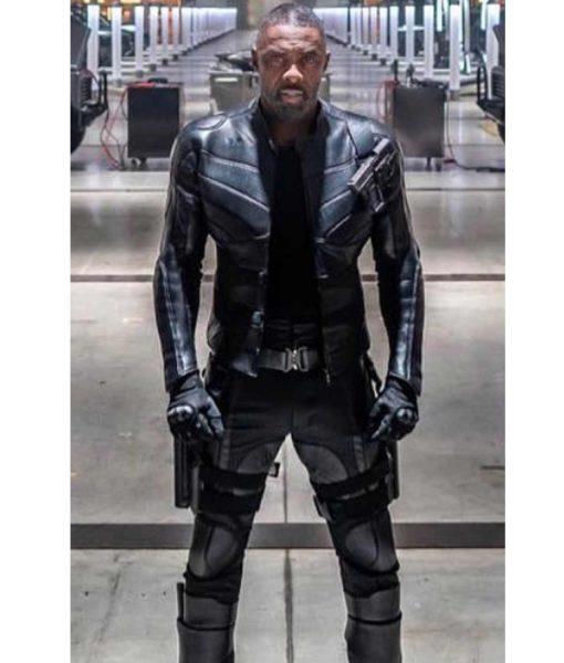 Brixton Fast and Furious Hobbs Shaw Idris Elba Black Leather Jacket