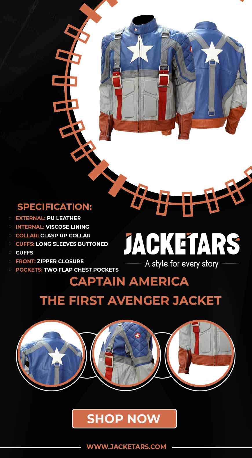 Captain America The First Avenger Jacket info