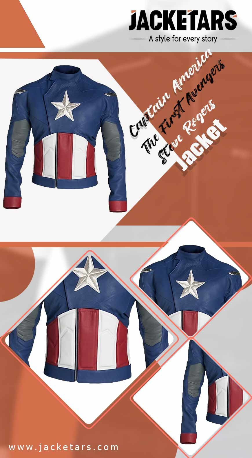 Captain America The First Avengers Steve Rogers Jacket info