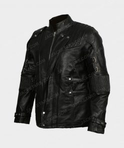 Chris Pratt's Star Lord Black Leather Jacket